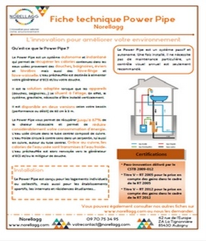 Power Pipe fiche technique caracteristique