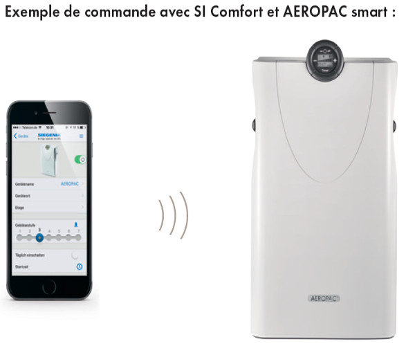 si comfort application commande aerateur siegenia